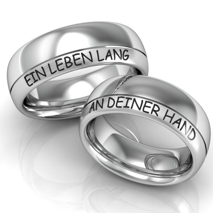 Verlobungsringe Silber ID252  TrauringShop24.de