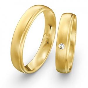 Gleiche Eheringe aus Gelbgold