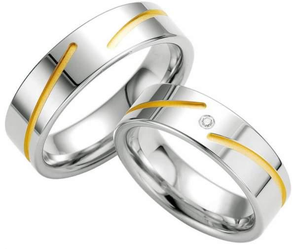 Verlobungsringe Silber Brillant Breuning 48/08035