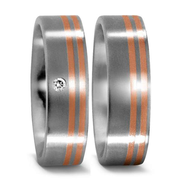 Trauringe Rotgold Brillanten Titan Factory 50957_001