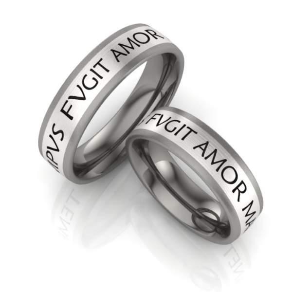Verlobungsringe Titan Silber ID1095