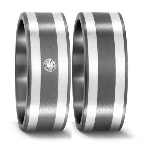 Trauringe Silber Brillant Titan Factory 50978_S