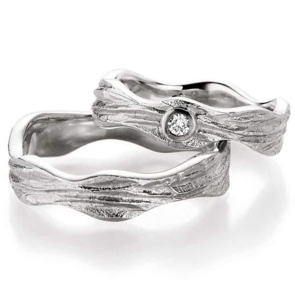 Verlobungsringe Silber Honeymoon Vulcano Brillant | TrauringShop24.de
