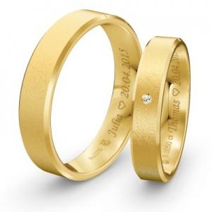 Partnerringe in Gold mit Namens- und Datumsgravur