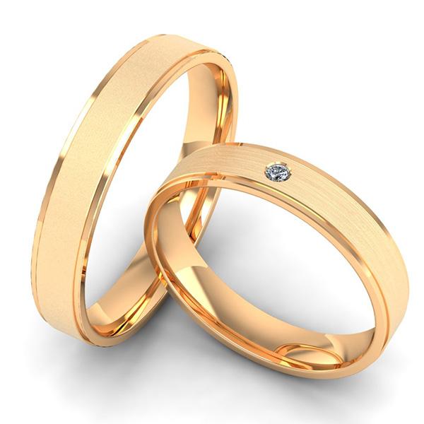 Verlobungsringe roségold mit Profil und Brillant