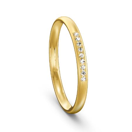 Klassischer Memoire-Ring in Gelbgold