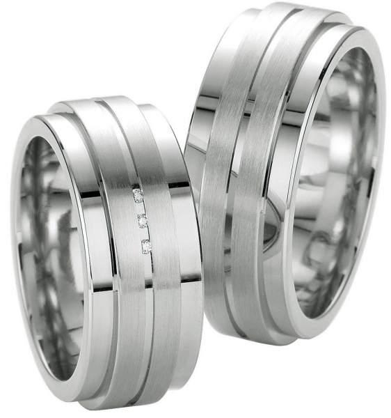 Verlobungsringe Silber Brillant Breuning 48/08039