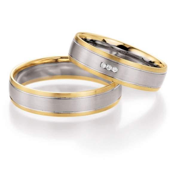 Trauringe Bicolor Honeymoon Harmony Brillant 66-10270
