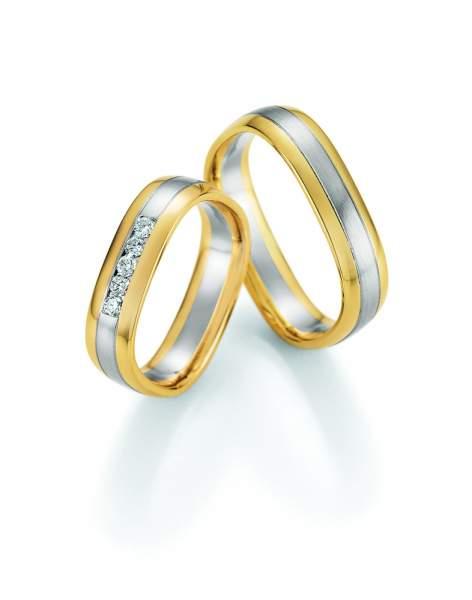 Trauringe Gold Honeymoon Quadra Brillant 66-49150