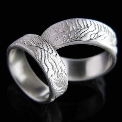 Trauringe Silber Natur im Design - Ossa Sepia