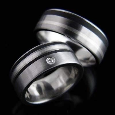 Trauringe Edelstahl Silber Brillant SCHOOP.Design R95-R03