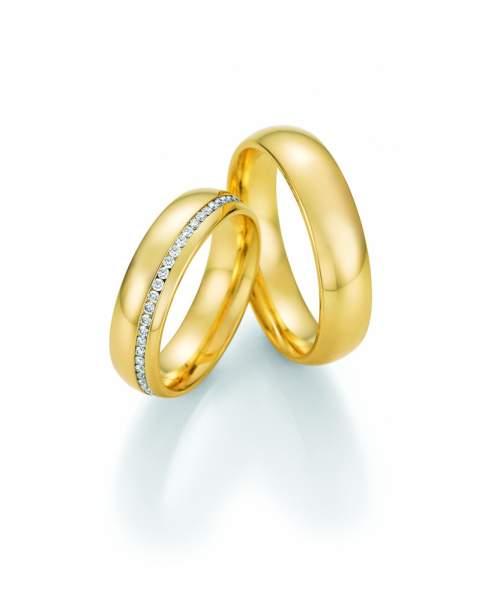Trauringe Gold Honeymoon Premium Brillant 02-51130