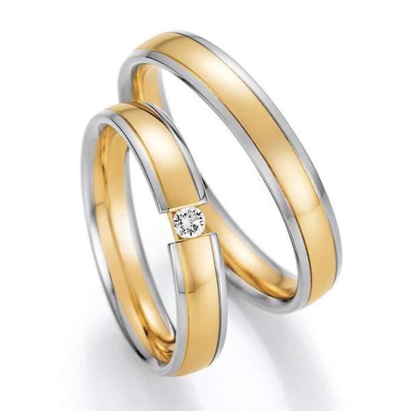 Trauringe Gold Honeymoon Solid Brillant 66-46150