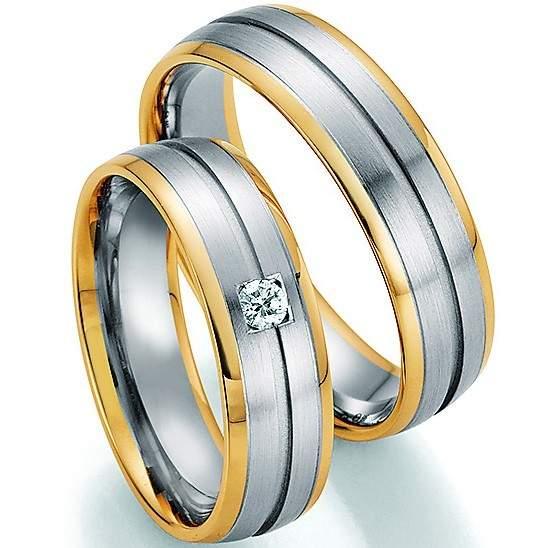 Trauringe Gold Honeymoon Solid Brillant 66-34010