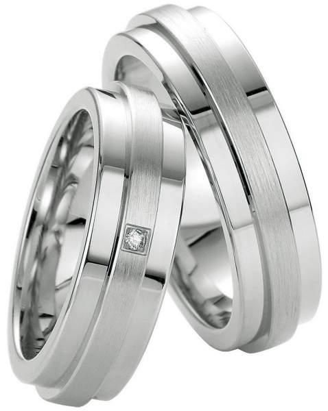 Verlobungsringe Silber Brillant Breuning 48/08047