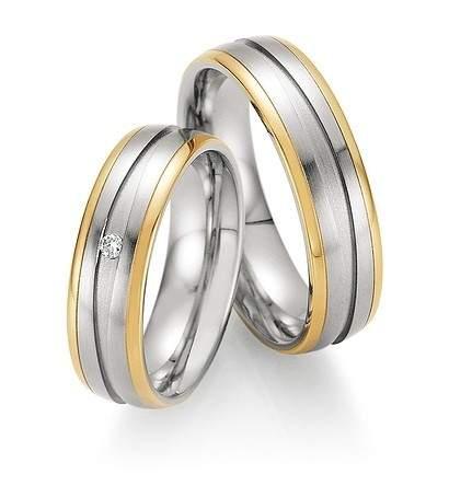 Trauringe Steel Gold Brillant 88-01830