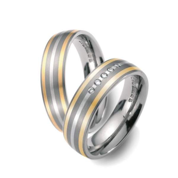 Trauringe Palladium Gold Titan Factory 51003