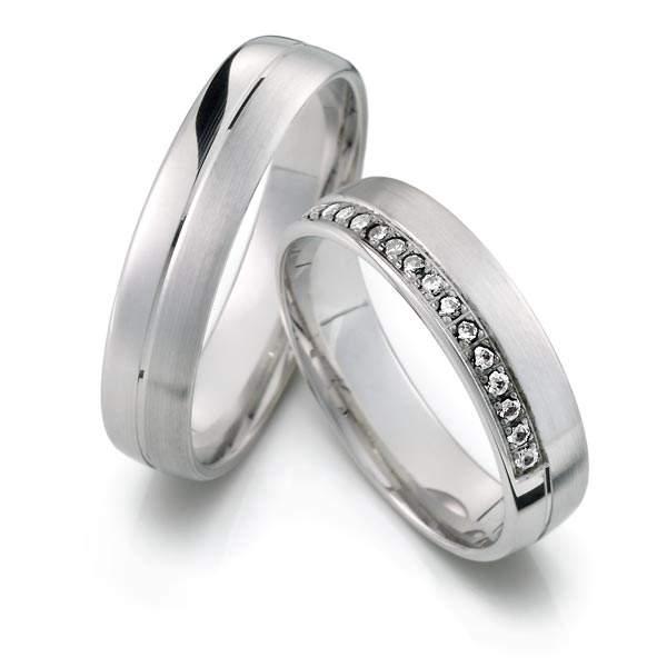 Verlobungsringe Silber Brillant Weidner 62164