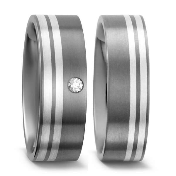 Trauringe Silber Brillanten Titan Factory 50958_003
