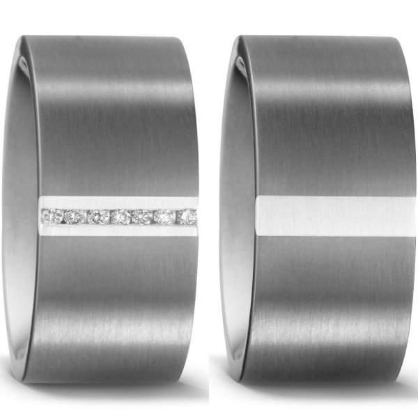 Trauringe Silber Brillant Titan Factory 50983