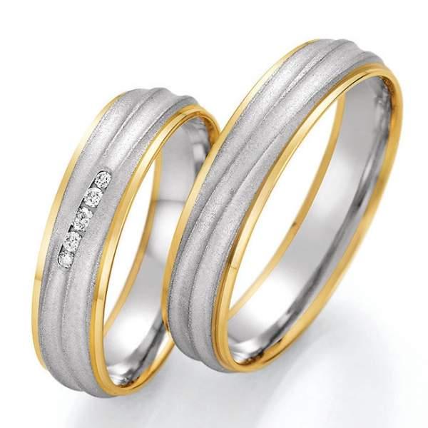Trauringe Gold Honeymoon Solid Brillant 66-46070