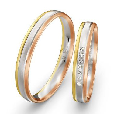 Eheringe-Tricolor-Weissgold-Gelbgold-Rotgold