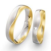 Partnerringe in Weißgold und Gelbgold