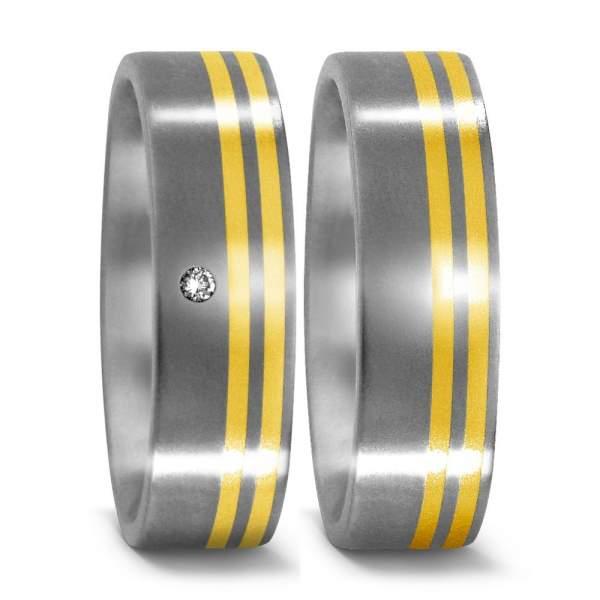 Trauringe Gelbgold Brillanten Titan Factory 50957_001