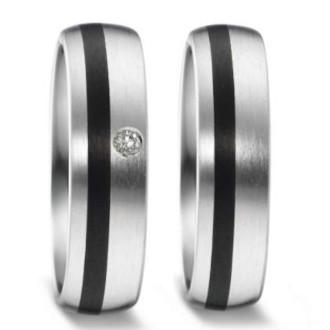Trauringe-Schwarz-Silber-Carbon-Palladium-mit-Brillant