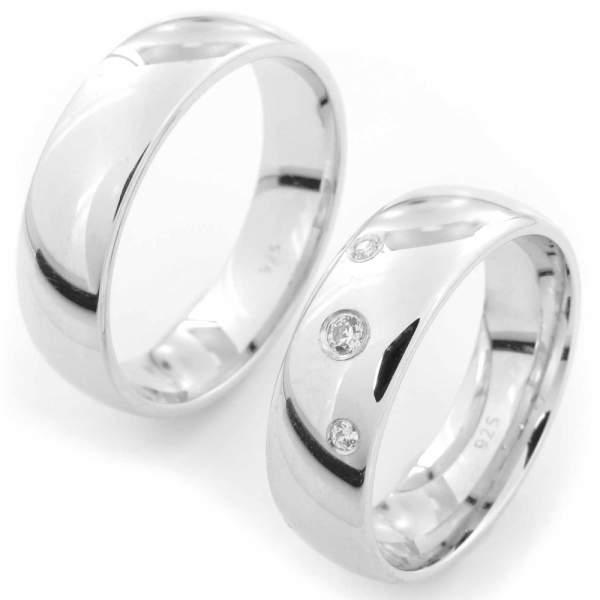 Verlobungsringe Silber Zirkonia Cilor CRG50