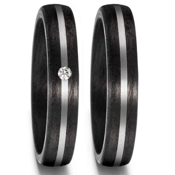 Ringe aus Carbon & Palladium 500 hier online kaufen | TrauringShop24.de