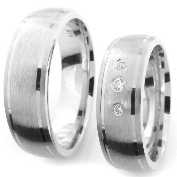 Verlobungsringe Silber Zirkonia Cilor CRG31