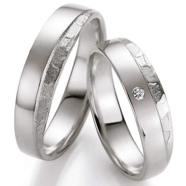 Verlobungsringe Silber Honeymoon Vulcano Brillant   TrauringShop24.de