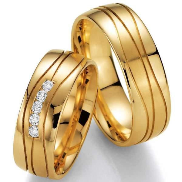 Trauringe Gelbgold Brillant 02-40730