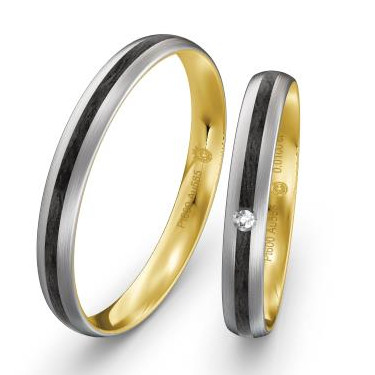 Eheringe-Weissgold-Rotgold-Tricolor-mit-Carbon