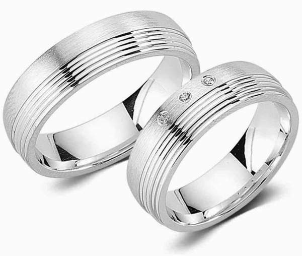 Verlobungsringe Silber Zirkonia Cilor G90