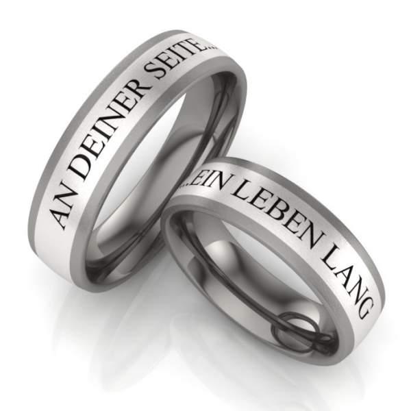 Verlobungsringe Titan Silber ID336