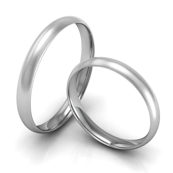 Schmale Verlobungsringe Weissgold