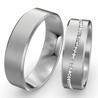 Ringe aus Platin 950 mit Diamantreihe