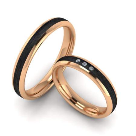 Ehering-schwarz-Rosegold-Brillanten