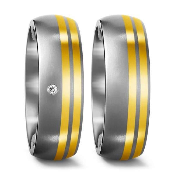 Trauringe Gelbgold Brillanten Titan Factory 51175