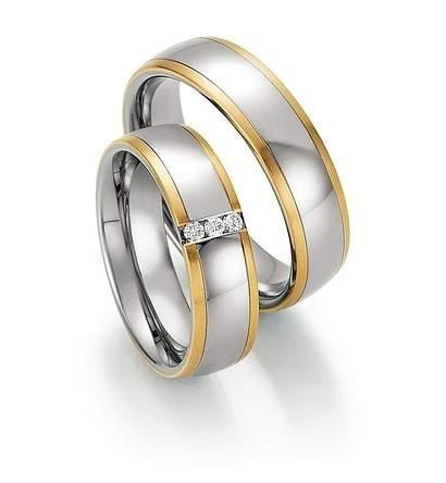 Trauringe Steel Gold Sensation Brillant 88-60130