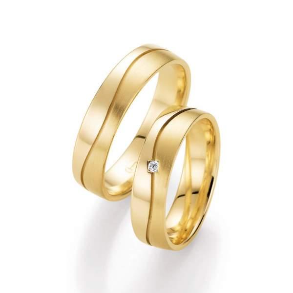 Trauringe Gelbgold Honeymoon Harmony Brillant 66-10170