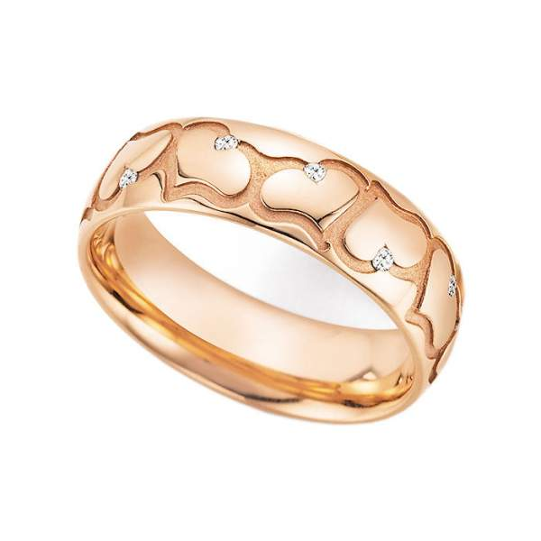 Antragsring Gold Hearts Love Infinity Brillant 66-38010