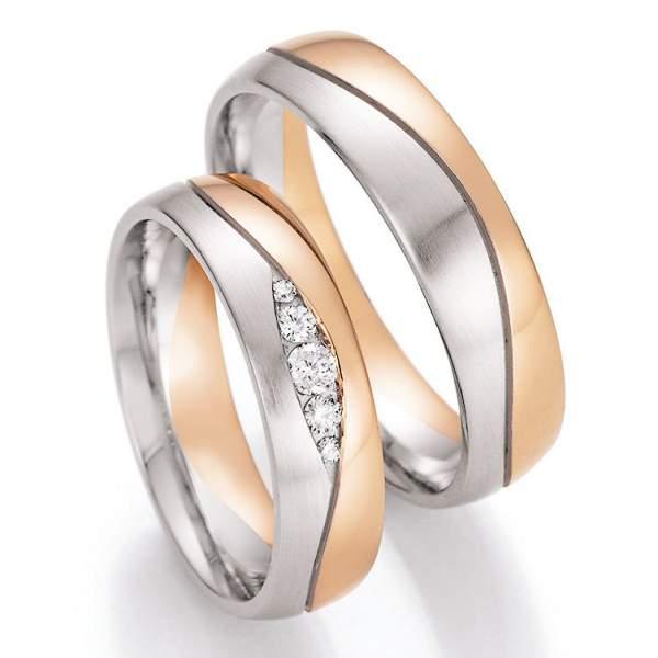 Trauringe Gold Honeymoon Solid Brillant 66-42090