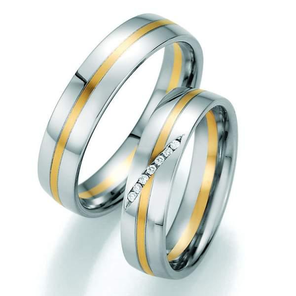 Trauringe Gold Honeymoon Variation Brillant 66-40030