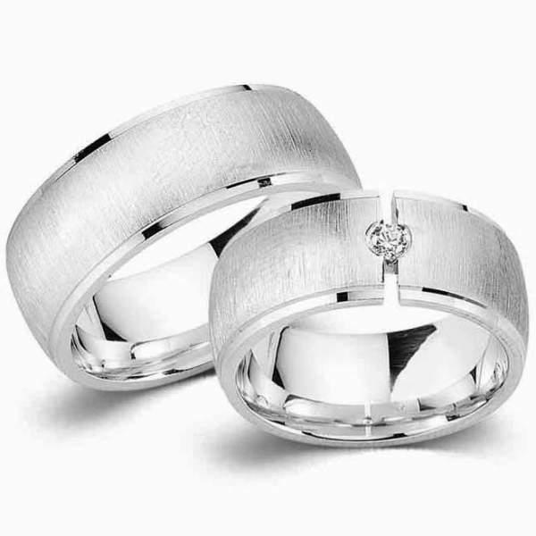 Verlobungsringe Silber Zirkonia Cilor G1