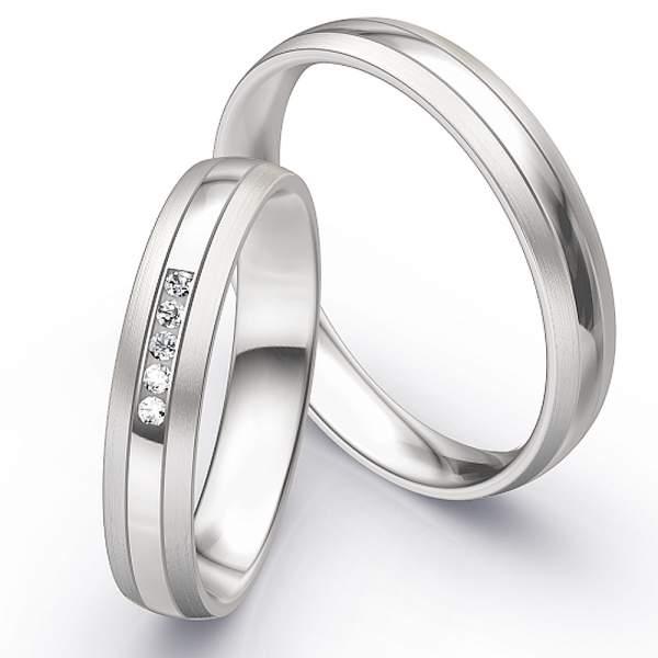 Trauringe Weißgold Honeymoon Infinity Brillant 66-35110