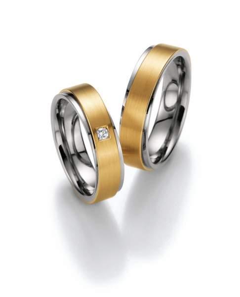 Trauringe Gold Honeymoon Premium Brillant 02-40570