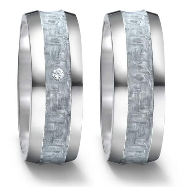 Eheringe Trauringe Verlobungsringe aus Wolfram mit Ringe Lasergravur W730